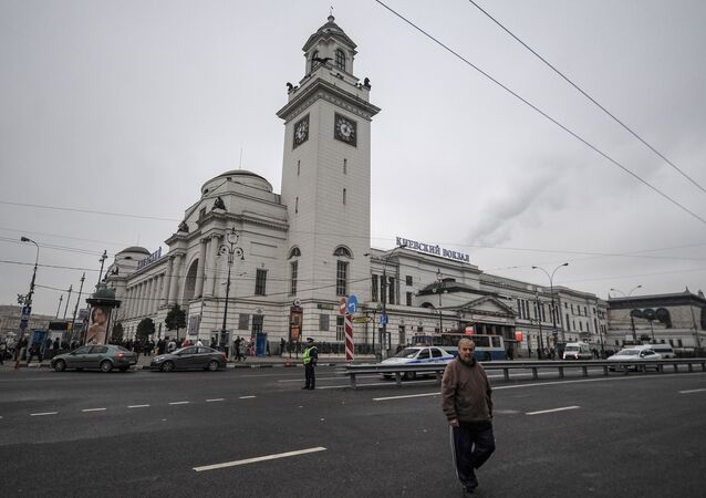 Kiyevsky railway station building in Moscow