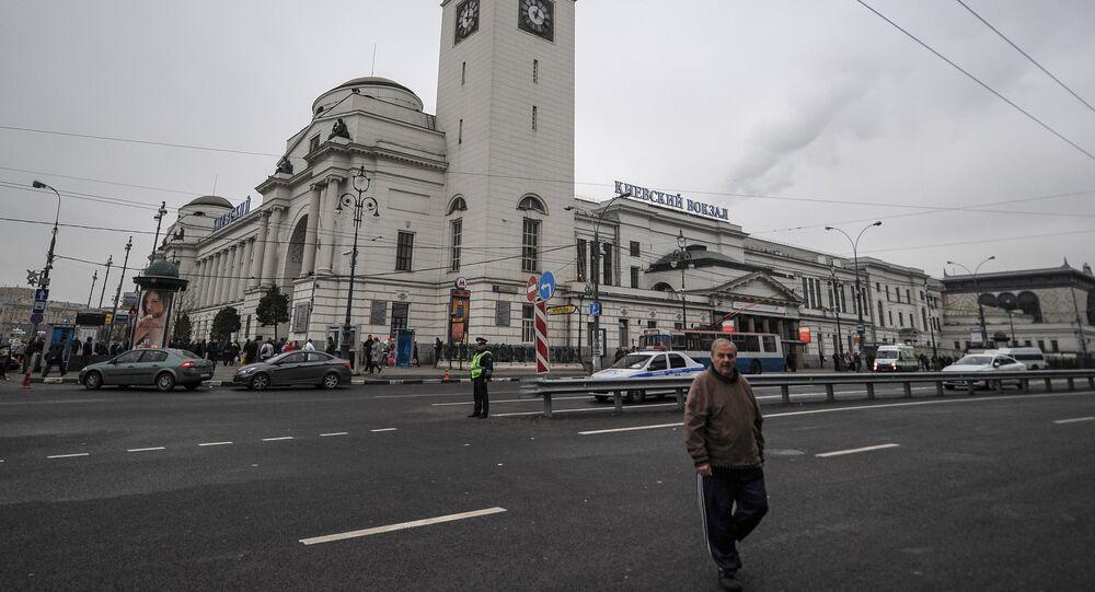 Kiyevsky railway station building in Moscow