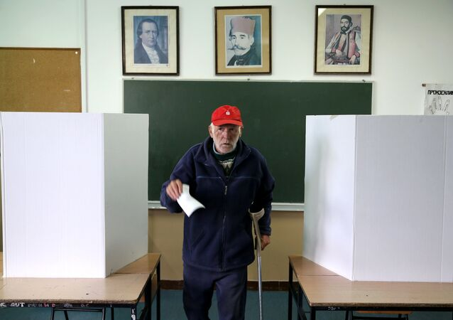 A man votes during a referendum on Statehood Day in Laktasi near Banja Luka, Bosnia and Herzegovina, September 25, 2016.