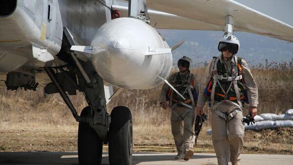 Russian military air group at Khmeimim airbase in Syria - Sputnik International