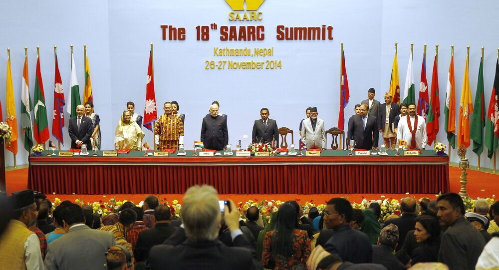 18th South Asian Association for Regional Cooperation (SAARC) summit in Kathmandu on November 26, 2014