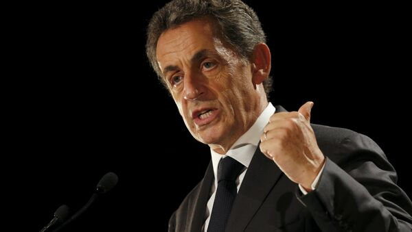 Nicolas Sarkozy, former head of the Les Republicains political party, attends a political rally in Franconville, France, as he campaigns for the French conservative presidential primary, September 19, 2016. - Sputnik International