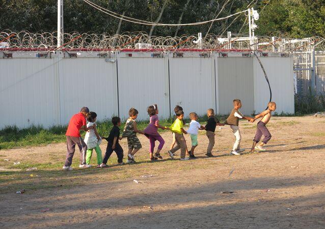 Kelebia refugee camp