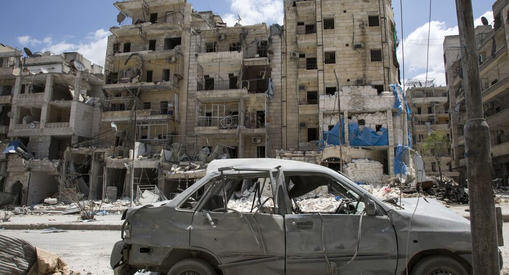 General view of the damaged Al-Quds hospital building. (File)