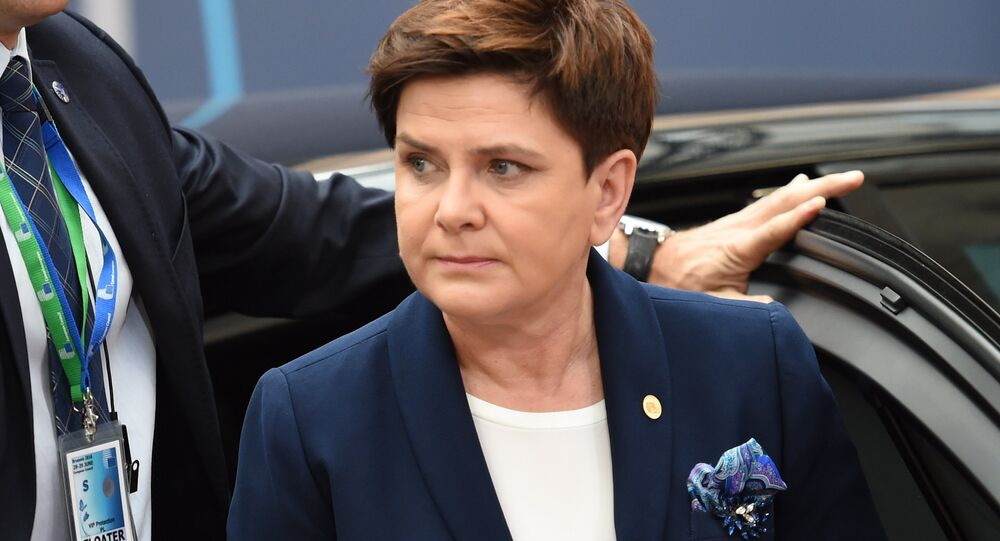 Poland's Prime minister Beata Szydło arrives for the second day of an EU - Summit at the EU headquarters in Brussels on June 29, 2016.