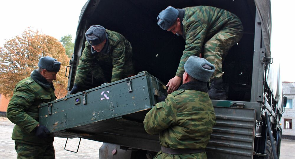 Weapons withdrawn from contact line in Luhansk Region (File)