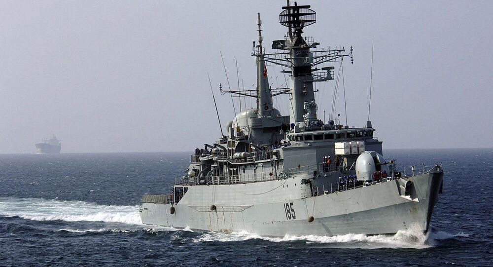 Arabian Sea - The Pakistani Naval frigate PNS Tippu Sultan (D-185)(File)
