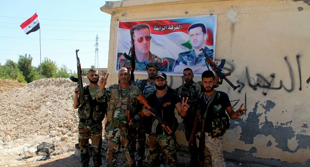 Syrian army troops in southern Aleppo. File photo