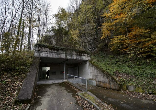 A former Swiss Army bunker built in the Alps during the Cold War (File)