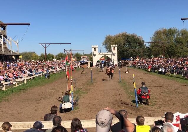 Jousting at the renaissance festival!