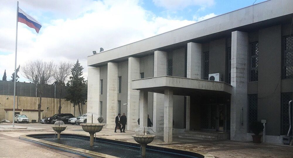 The Russian Embassy in Damascus.