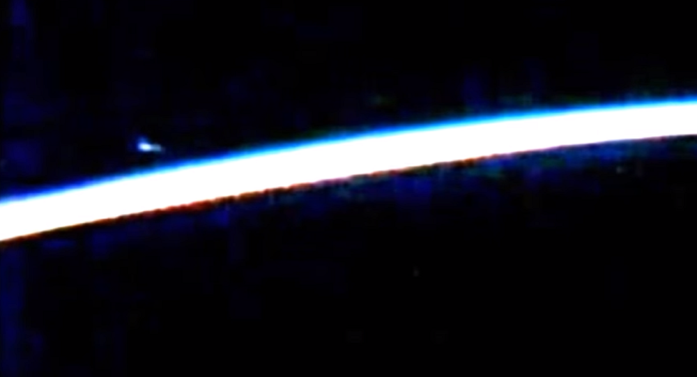 Sorry!  'UFO' Seen in Live Space Station Video is Just Fluff – NASA