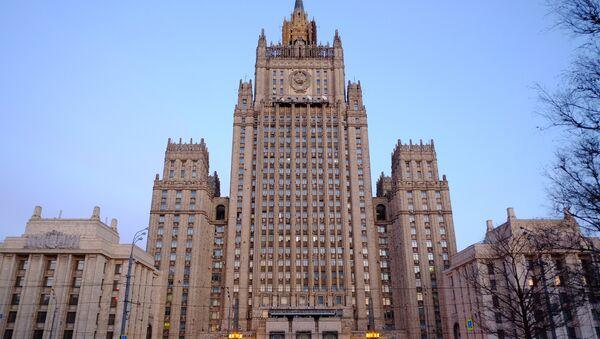 The Russian Ministry of Foreign Affairs on Smolenskaya-Sennaya Square in Moscow. - Sputnik International