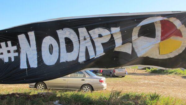 No DAPL Banner at North Dakota Access Site - Sputnik International