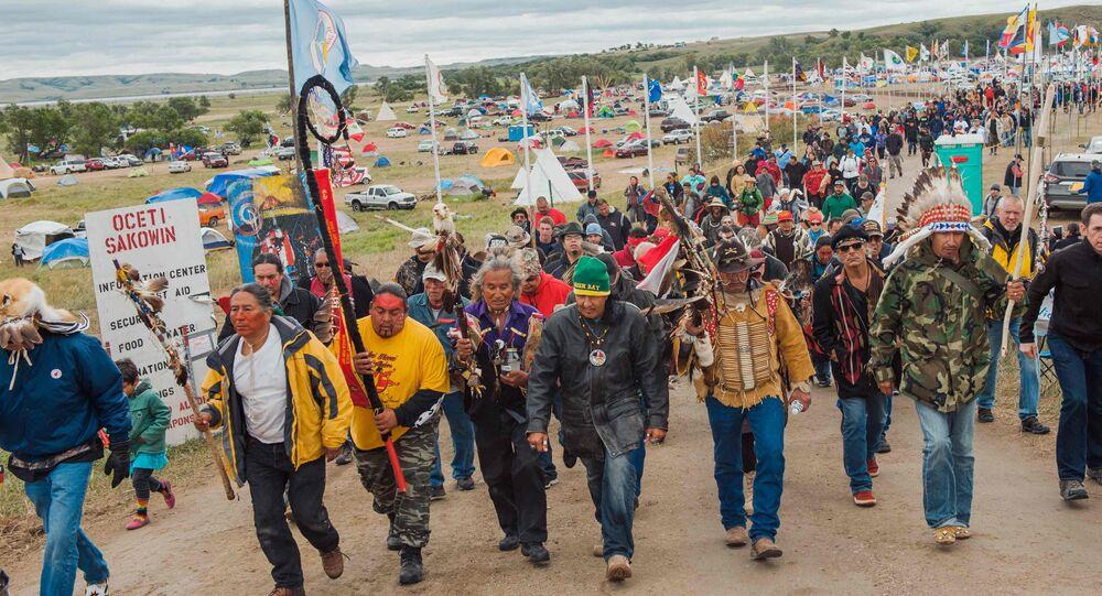 DAPL Protesters in Cannon Ball, North Dakota