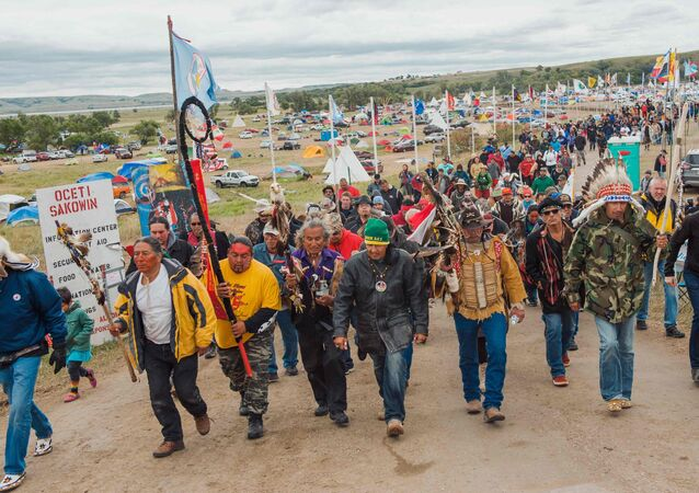DAPL Protesters in Cannon Ball, North Dakota