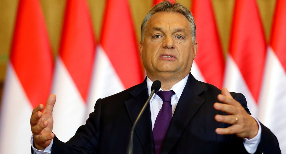 Hungarian Prime Minister Viktor Orban attends a news conference in Budapest, Hungary, October 4, 2016.