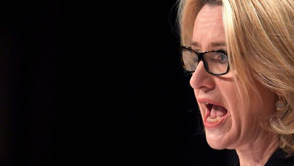 British Home Secretary Amber Rudd delivers her keynote address at the annual Conservative Party Conference in Birmingham, Britain, October 4, 2016. - Sputnik International