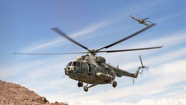 Mi-8, Mi-24 helicopters in flight  near Kabul, Afghanistan (File) - Sputnik International