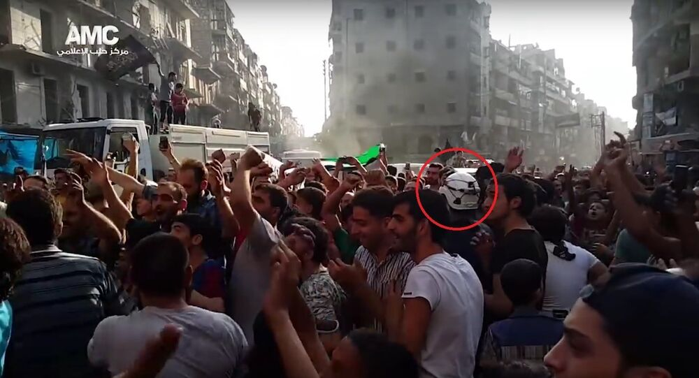 White Helmets mixed in with al-Nusra and Free Syrian Army terrorists and militants