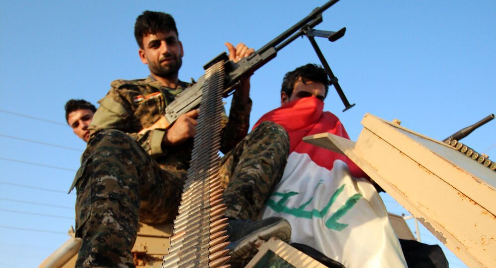 Fighters of the Ansar Allah al-Awfiya (Loyal Supporters of God) Shiite group (File)