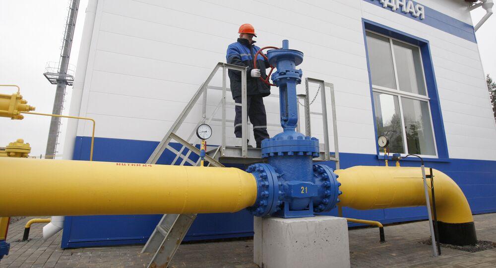 Gazprom's Zapadnaya gas distribution station in Belarus