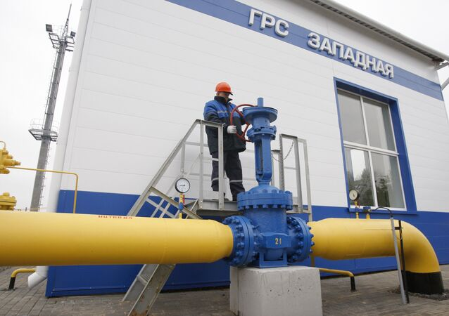 Gazprom's Zapadnaya gas distribution station in Belarus