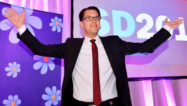 Sweden Democrats Party leader Jimmie Akesson in Stockholm, Sweden (File) - Sputnik International