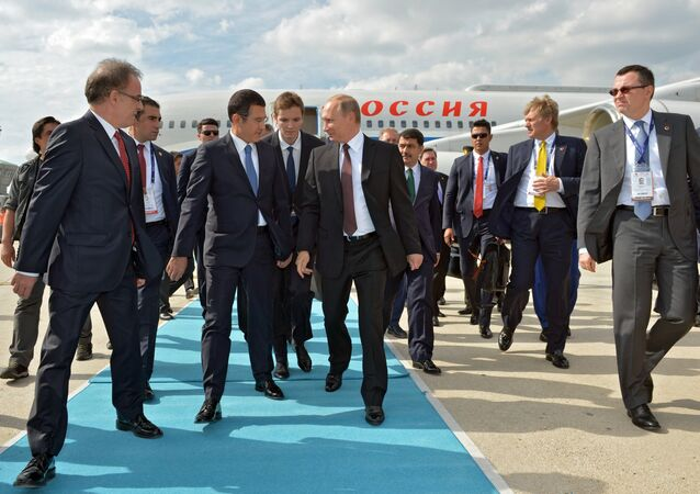 October 10, 2016. Russian President Vladimir Putin during a welcoming ceremony at Istanbul Ataturk International Airport
