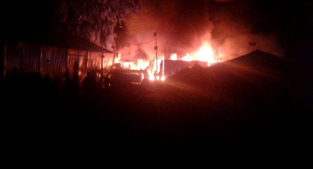 Fire broke out at the Chios refugee camp