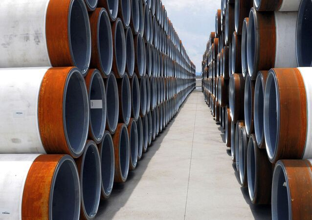 Pipes for the TurkStream Offshore Pipeline are stored at ports on the coast of the Black Sea