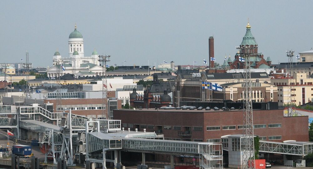View of Helsinki from the harbour