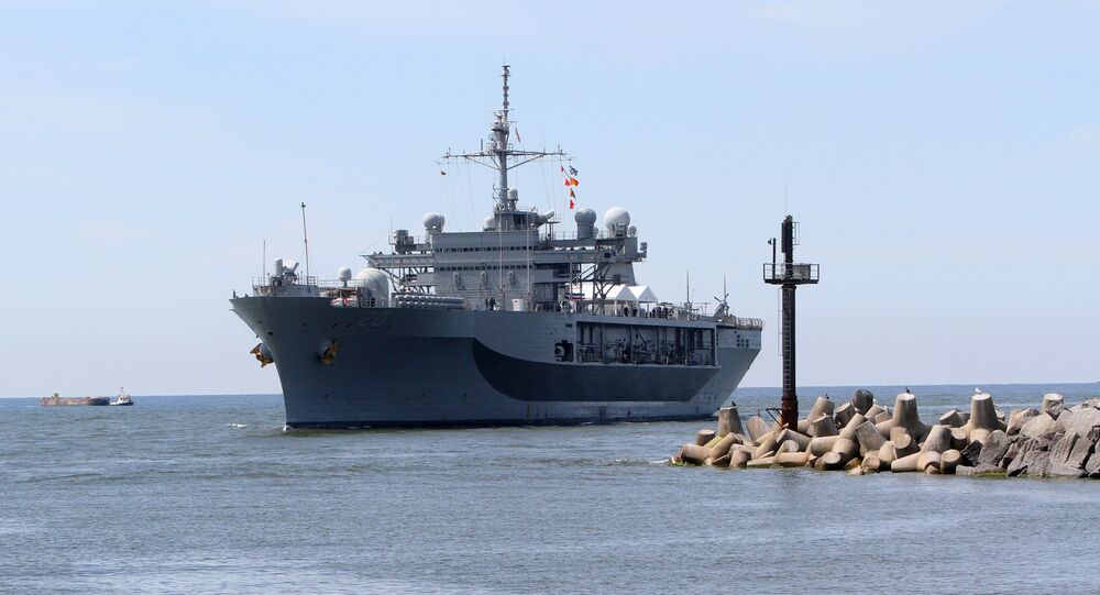 USS Mount Whitney, the flagship of the US Sixth Fleet