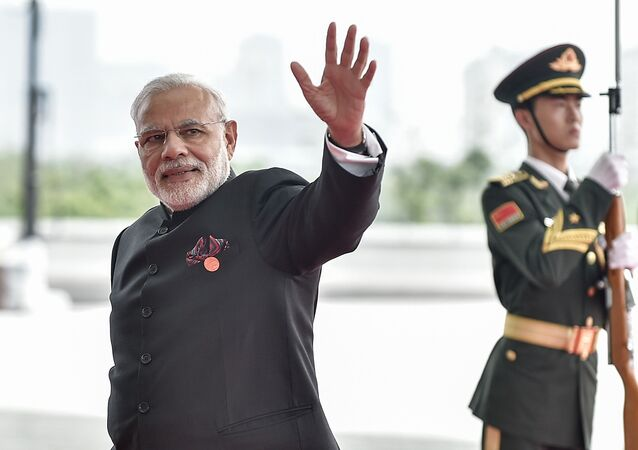 Prime Minister Narendra Modi of India arrives at the Hangzhou Exhibition Center to participate to G20 Summit, in Hangzhou, Zhejiang province, China, September 4, 2016.