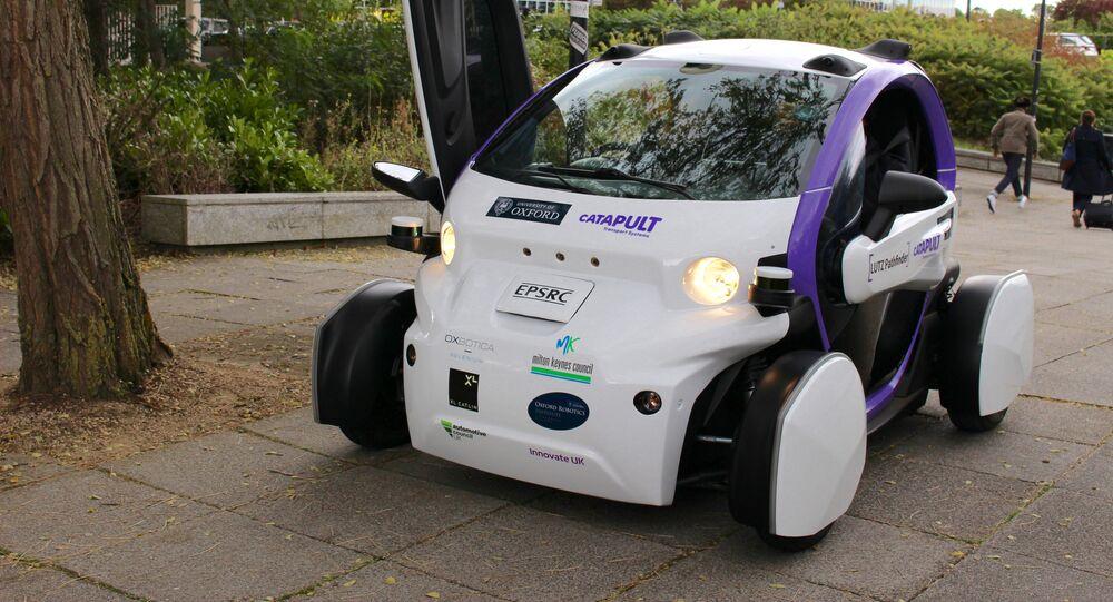 An Oxbotica driverless car