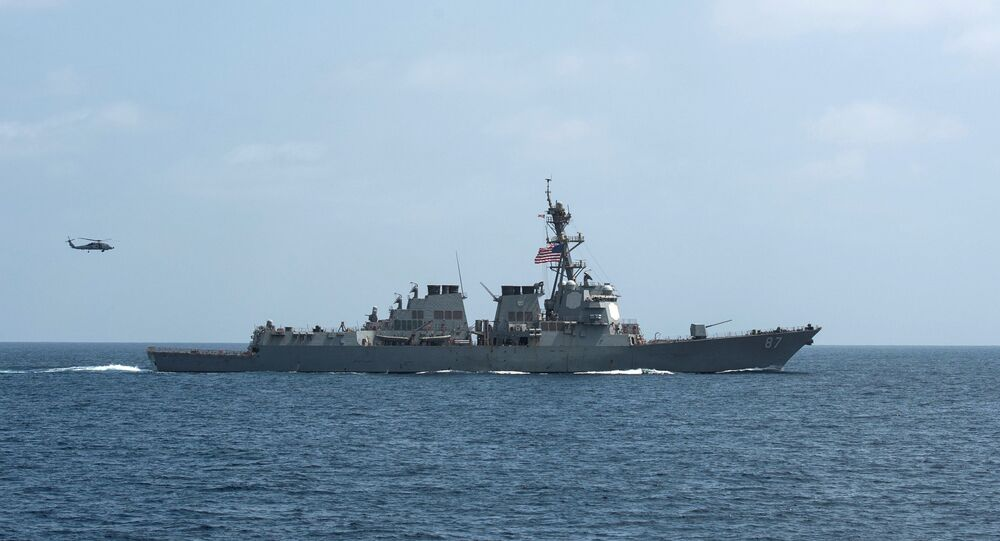 FILE PHOTO - The US Navy guided-missile destroyer USS Mason.
