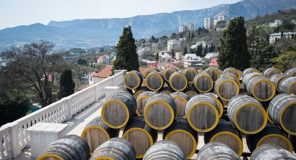 The Massandra wine-making factory in the Crimea