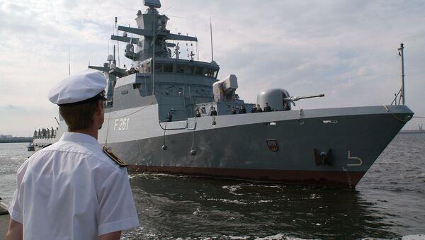 The corvette Magdeburg is seen at the Navy harbor of Warnemuende near Rostock, northern Germany. file photo - Sputnik International