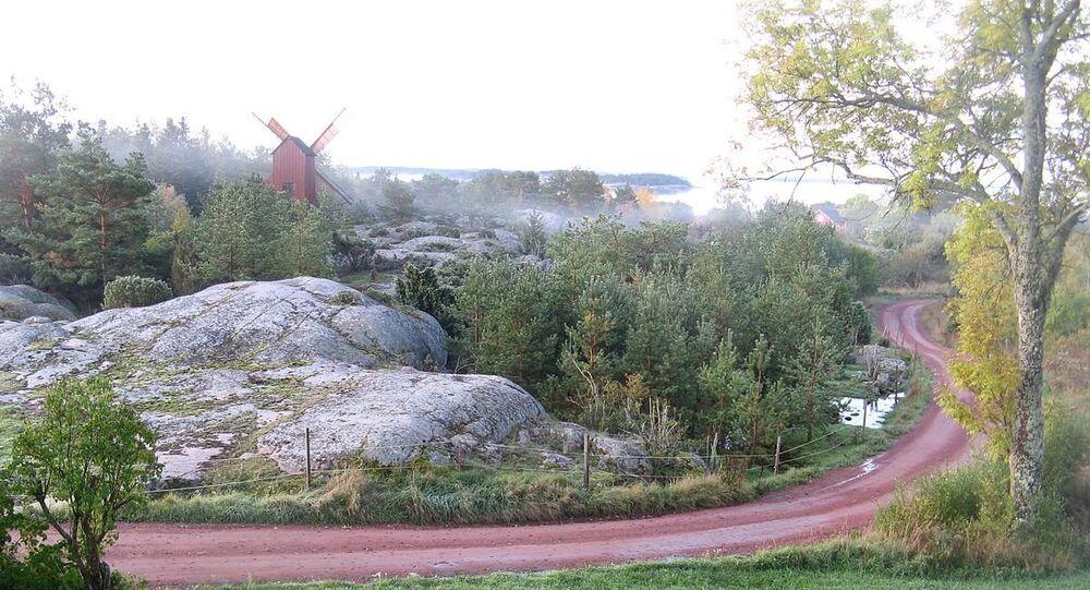 Morning in Östra Simskäla in Vårdö, Åland, Finland