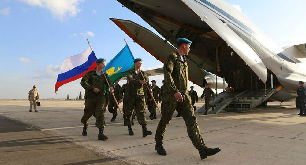 Russian servicemen disembark in Egypt for the Russian-Egyptian 'Defenders of Friendship-2016' anti-terrorism drills.