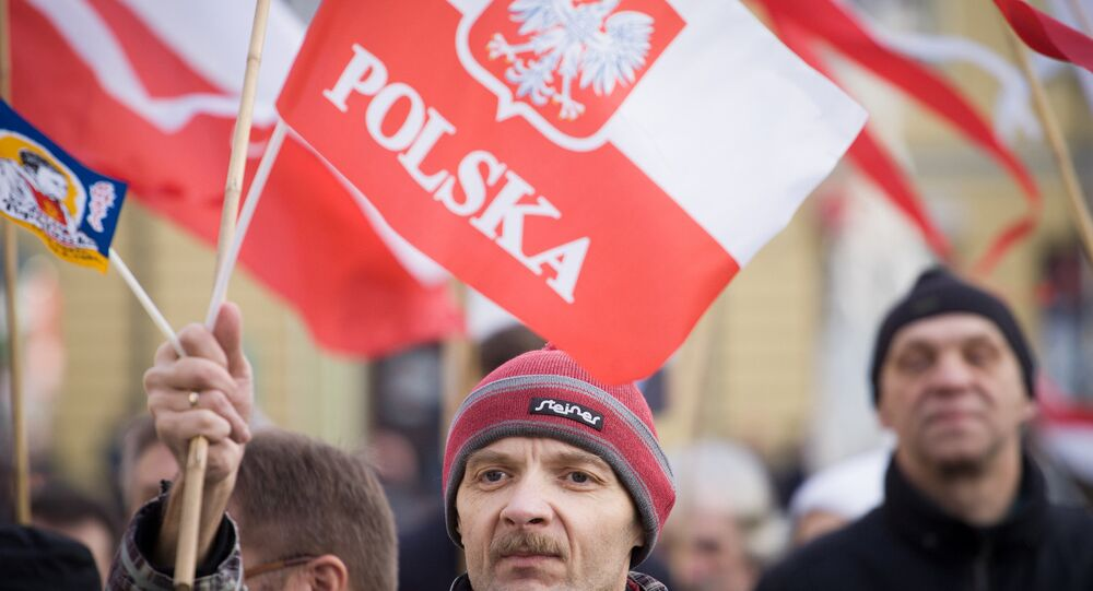 Pro democracy rally in Poland, December 2015