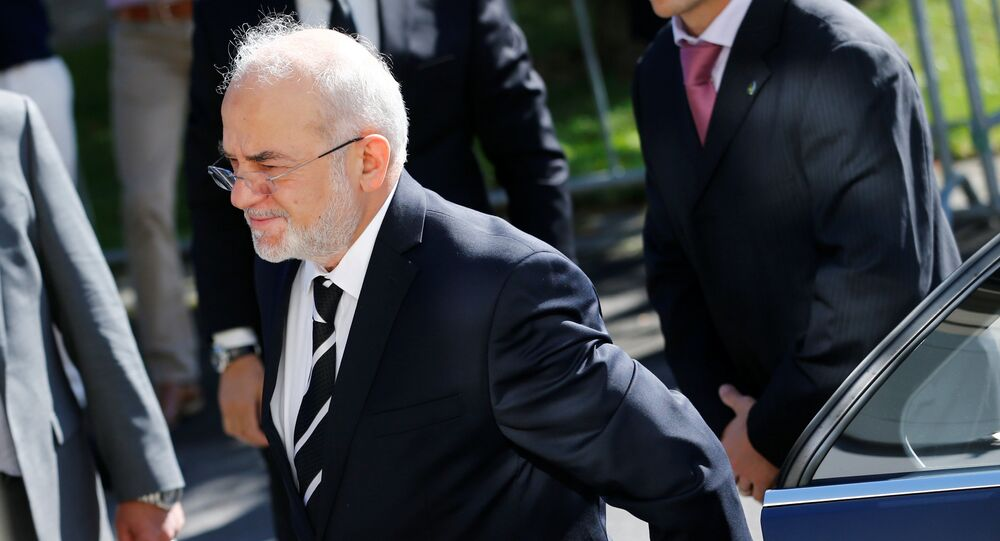 Iraq's Foreign Minister Ibrahim al-Jaafari arrives at the Beau-Rivage Palace ahead of Syria talks in Lausanne, Switzerland, October 15, 2016
