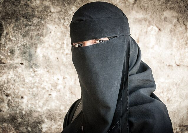 A girl in a burqa. (File)