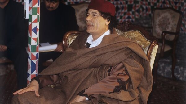 Muammar al-Gaddafi, leader of Libya accorded the honorifics Guide of the First of September Great Revolution of the Socialist People's Libyan Arab Jamahiriya. (File) - Sputnik International