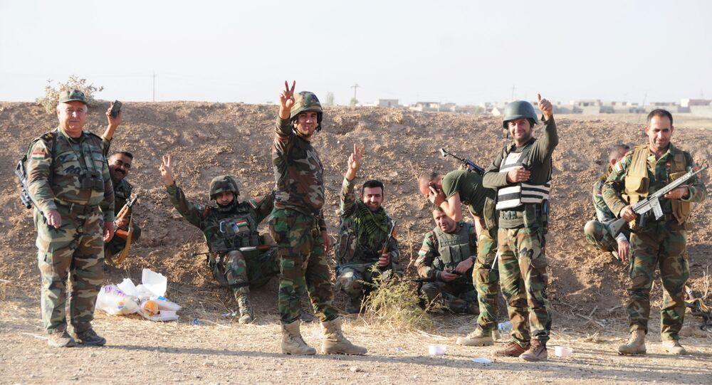 Peshmerga forces near Mosul, Iraq
