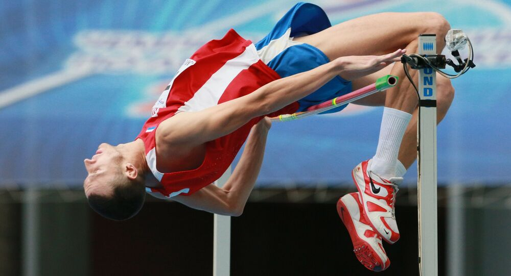 Yury Korshunov performing in the men's high jump finals of the Russian Athletics Championship in Moscow. (File)