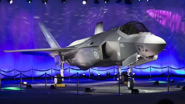 First Norwegian Armed Forces Lockheed Martin F-35A Lightning II, known as AM-1 Joint Strike Jet Fighter, is unveiled during the rollout celebration at Lockheed Martin production facility in Fort Worth, TX - Sputnik International
