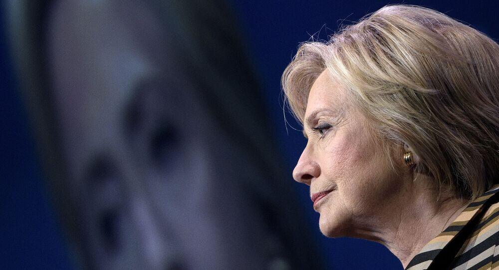 Democratic presidential nominee Hillary Clinton pauses while speaking during the Congressional Hispanic Caucus Gala September 15, 2016 in Washington.