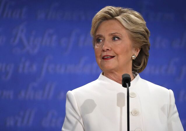 Democratic presidential nominee Hillary Clinton speaks during the third and final 2016 presidential campaign debate with Republican U.S. presidential nominee Donald Trump (not pictured) at UNLV in Las Vegas, Nevada, US, October 19, 2016.