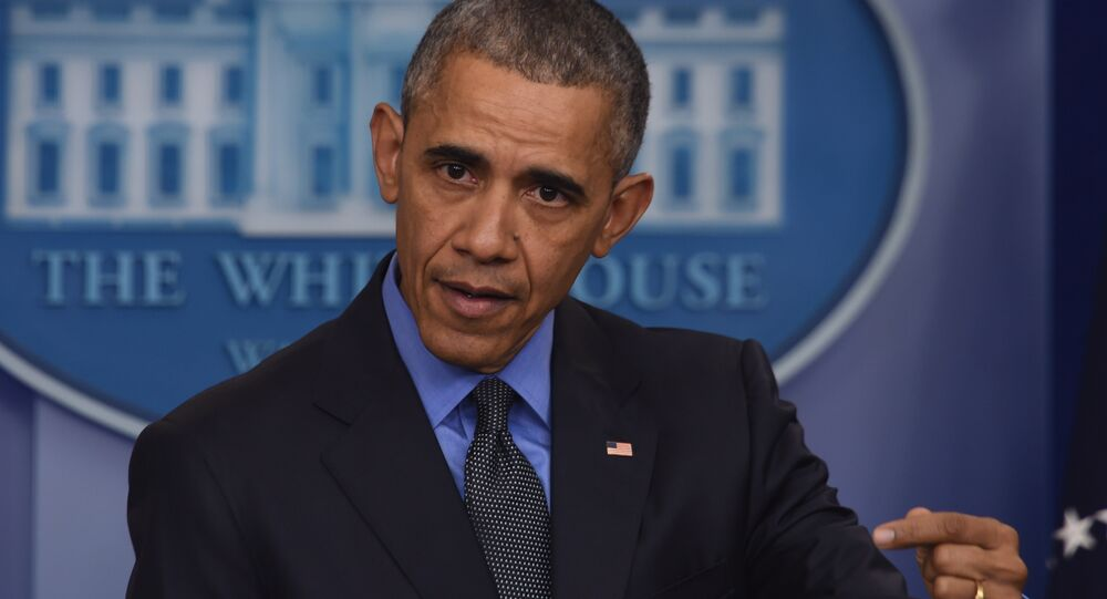 US President Barack Obama holds a press conference in the briefing room at the White House in Washington, DC. (File)
